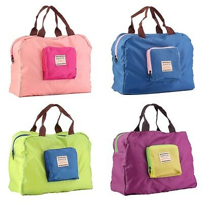 Folding Waterproof Eco Shopping Travel Shoulder Bag Pouch Tote Handbag EW