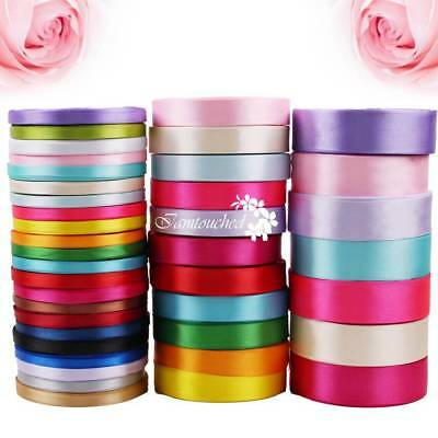 25YD Satin Ribbon 6/15/25 mm Multi Craft Wedding Supply Xmas Gift Package Ribbon