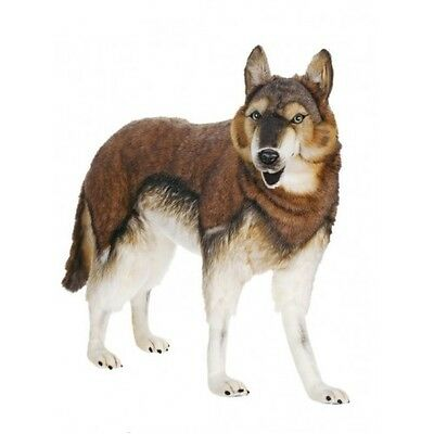 """Timber Wolf Standing 40"""" Long By Hansa"""