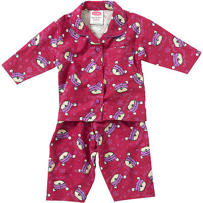 Baby Girls Fizzy Moon Bear Pyjamas 6-12 12-18 18-23 Months Cotton Winceyette