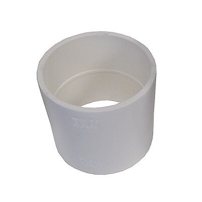 """New Sch 40 PVC 3"""" Straight Coupling Socket Connect New Sch 40 PVC"""