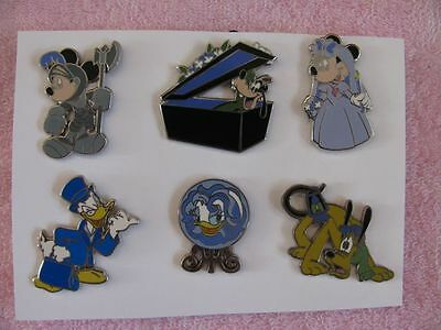 Disney DLR The Haunted Mansion Collection 2009 GWP Set of 6 Pins + Map
