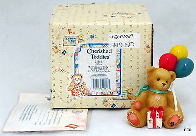 Cherished Teddies Nina Beary Happy Wishes 1996 Girl with Balloon Event 215864
