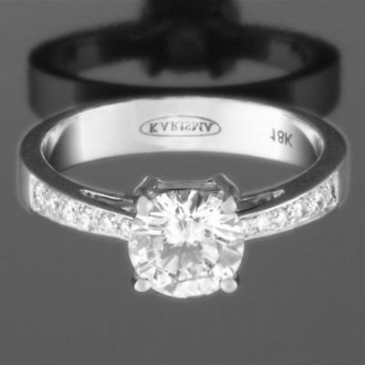 Honesty Diamond Ring Round 1.46 Ct Earth Mined Si1 D 4 Prongs Womens New 14k White Gold Fine Jewelry Jewelry & Watches