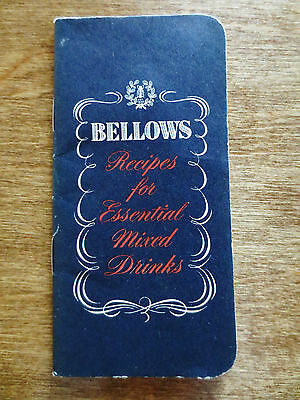 1950s Bellows Company Recipes Essential Mixed Drinks Guide Booklet Advertising