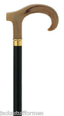 Concord Corno Extra Tall 41in Hardwood Walking Stick Mens Cane Made in Italy