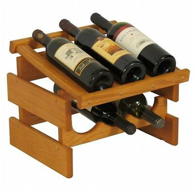Wooden Mallet WRD31MO 6 Bottle Dakota Wine Rack with Display Top