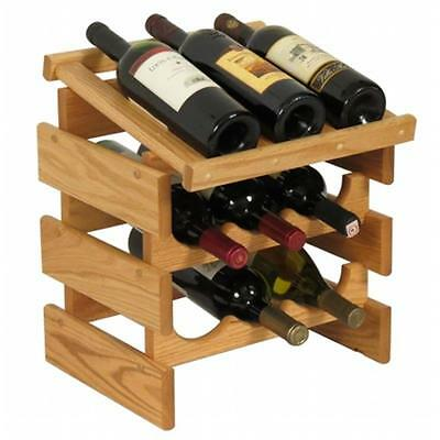 Wooden Mallet WRD32LO 9 Bottle Dakota Wine Rack with Display Top