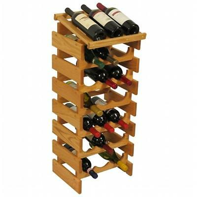 Wooden Mallet WRD36LO 21 Bottle Dakota Wine Rack with Display Top