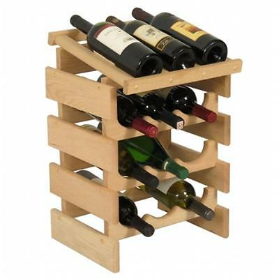 Wooden Mallet WRD33UN 12 Bottle Dakota Wine Rack with Display Top