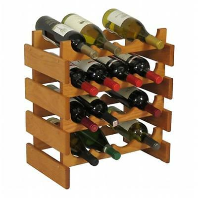 Wooden Mallet WR44MO 16 Bottle Dakota Wine Rack