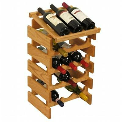 Wooden Mallet WRD34LO 15 Bottle Dakota Wine Rack with Display Top
