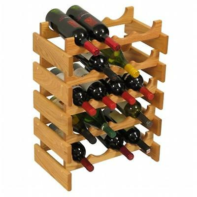 Wooden Mallet WR45LO 20 Bottle Dakota Wine Rack