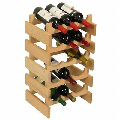 Wooden Mallet WR35UN 15 Bottle Dakota Wine Rack