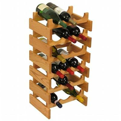 Wooden Mallet WR36LO 18 Bottle Dakota Wine Rack
