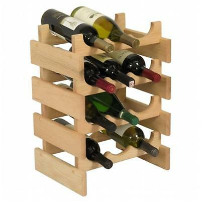 Wooden Mallet WR34UN 12 Bottle Dakota Wine Rack