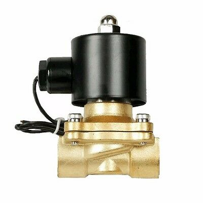 """air ride suspension valve 3/8"""" npt electric solenoid brass for train horn fast"""
