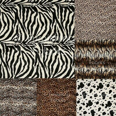 New Soft Faux Fur Animal Skin Pattern Upholstery Cushion Curtain Fabric Material