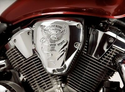 Show Chrome Air Cleaner Cover Free Spirit 55-108 41-8726 BB55108