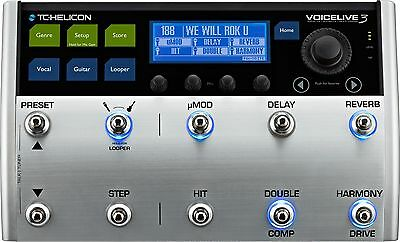 New TC-Helicon Voicelive 3 Vocal FX Guitar Effects and Looper Pedal!