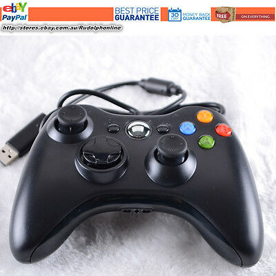 New Black USB Wired Controller For Xbox 360 Slim PC Games Windows7 Win8 Window10