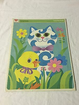 1970 Whitman Spring Friends Frame Tray Puzzle SEALED