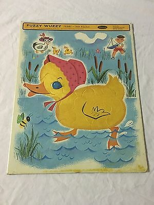 Sealed 1964 Whitman Fuzzy Wuzzy Duck Frame Tray Puzzle
