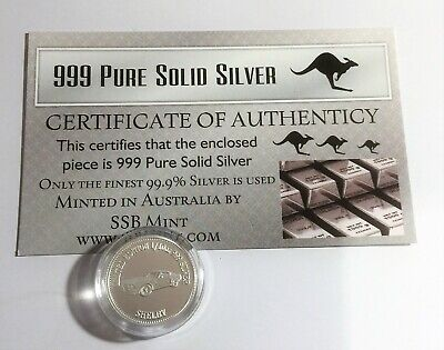 NEW SHELBY MCS1 Certified 1/10th Oz 999.0 Pure Silver Bullion Coin