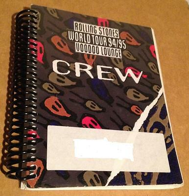 1994/95 The Rolling Stones - Voodoo Lounge World Tour - Crew Itinerary Book 1995