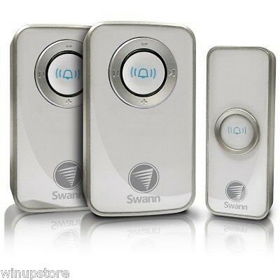 Swann Wireless Door Chime Bell with Mains Power and 2 Receivers  SWHOM-DC820P2