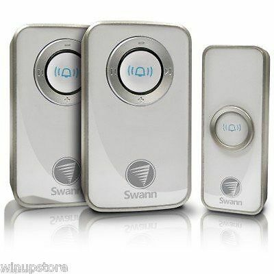 Swann  Wireless Door Chime Bell with Mains Power (2 Receiver)  SWHOM-DC820P2