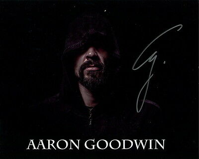 AARON GOODWIN HAND SIGNED 8x10 PHOTO+COA     AWESOME POSE      GHOST ADVENTURES