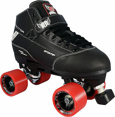 RD Elite Stomp Factor 2 Mens Ladies Quad Fashion Leather Roller Skates US Size 9