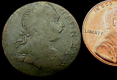 P588: 1775 George III Farthing - 3.04 grams.  Fish Lips rev die NON REGAL