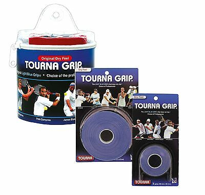Tourna Grip Original Tennis Badminton Overgrip - Blue - Dry Feel