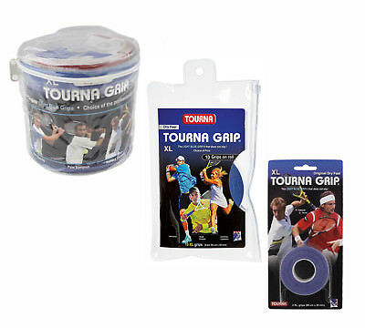 Tourna Grip Original Tennis Badminton XL Overgrip - Blue - Dry Feel