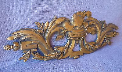 "Big antique furniture ornament bronze France probably 19th century 12"" x 4"""