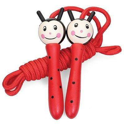 Tobar Kids LADYBIRD Wooden Skipping Rope Girls Boys Birthday Gift Toy Box New UK