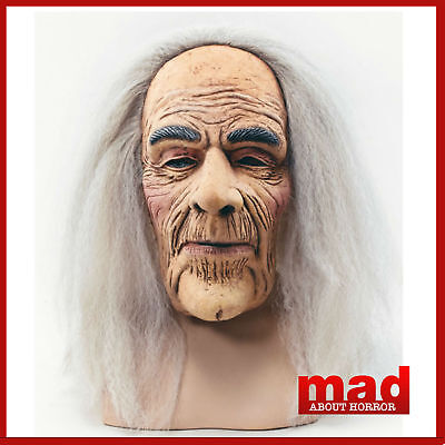 Creepy Old Man Hermit Mask - Latex Overhead Evil Warlock Wizard Halloween SCARY!