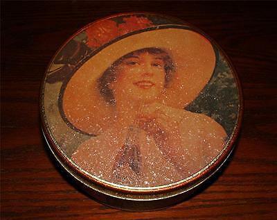 Vintage Coca Cola Unmarked Collector Tin Canister With Victorian Ladies Coke Ads