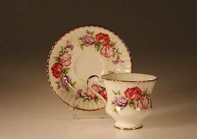 Paragon  Sweet Pea Cup and Saucer, Made In England c. 1957