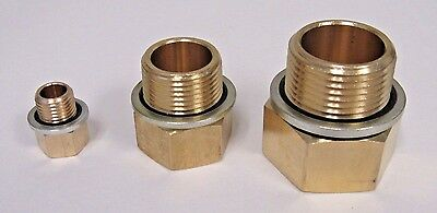 "Brass Adapter 1/2"" Npt Female X 1/2"" Bspp Male  W/ Sealing Washer New"