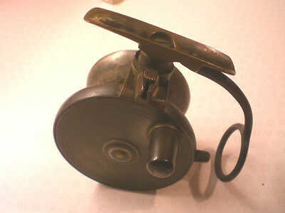 """A Vintage 3 3/8"""" Malloch Sidecaster Reel For Brown Of Aberdeen(Retailer)"""