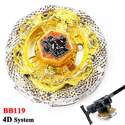 Beyblade Metal Fusion Fight Master 4D System BB119 Death Quetzalcoatl + Launcher