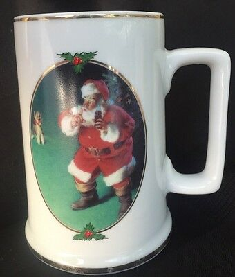 "Pre-Owned 1996 Collector Edition Coca-Cola Christmas Mug ""When Friends Drop In"""
