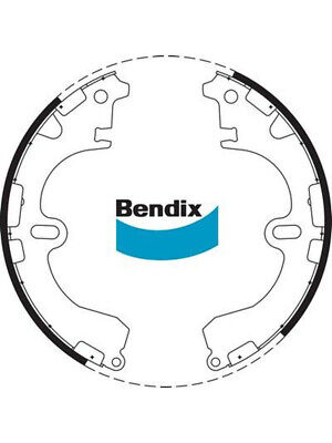 1 set x Bendix Brake Shoe (BS1704)