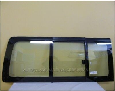 TOYOTA HIACE  200 Series Right Side sliding Window REAR of VAN-Glass in Glass Fr