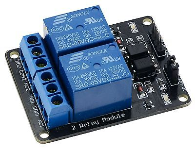 5V 2-Channel Relay Board Module for Arduino Raspberry Pi ARM AVR DSP PIC