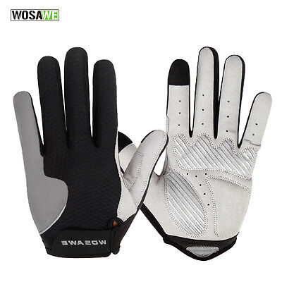 Winter Outdoor Cycling Motorcycle Racing Bicycle Bike Full Finger Gloves Gel XL