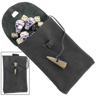 Medieval Horn Toggle Leather Belt Pouch